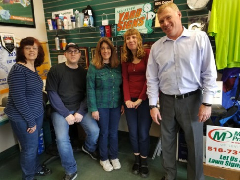 The Minuteman Press team of Levittown, N.Y.