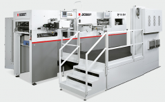 The Bobst SP 104 BM Autoplaten hot foil stamper.
