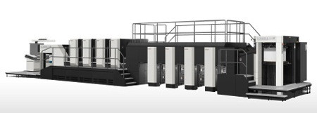 The Komori Lithrone GX40RP (GLX840RP) Front/Reverse Multi-Color Offset Printing Press.