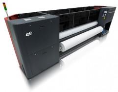 The EFI VUTEk FabriVU 340 printer.