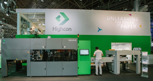 st one year after drupa, Highcon has selected the Dscoop EMEA conference at Lyon to launch a major productivity boost for the Highcon Euclid. The newly introduced capability dramatically increases the effective speed of the Highcon Euclid digital cutting and creasing machines by up to 40% for a B2 sheet size, reaching speeds of up to 2,750 sheets per hour. Highcon customers have already proven the productivity of the new boost function on their Highcon Euclid machines, which allows them to perform more jobs on the machine per day, with increased profitability.