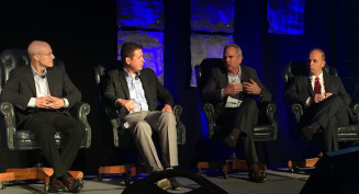 Keynote sponsor panel at the Inkjet Summit