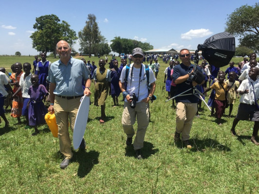 In 2015, Narducci, along with the Wheels4Water team, visted Uganda and the Congo, where they visited villages.