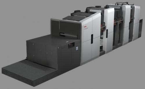 The Kodak Prosper 6000S simplex color inkjet web press.