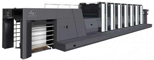 The RMGT 920ST-6+CC+LED UV-2+IR six-color press with coater.