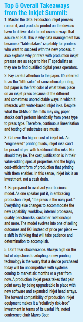 Top 5 Overall Takeaways from the Inkjet Summit