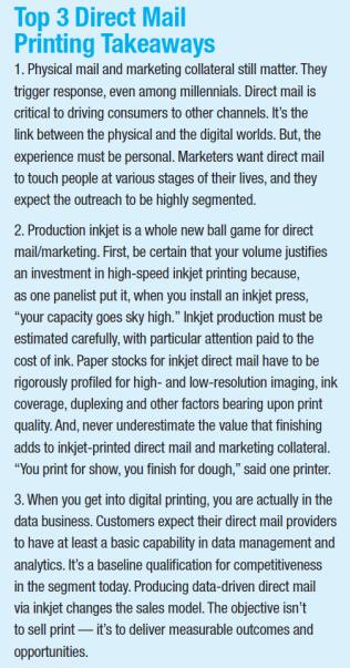 Top 3 Direct Mail Printing Takeaways
