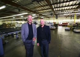 Tim Poole, CEO and owner, and Bob Poole, DOME.