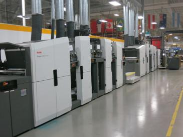 The Kodak Prosper 6000C press platform.
