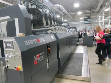 A Sapphire EVO flexo/gravure press from Uteco, hybridized with Kodak's Stream inkjet technology.
