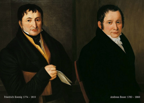 KBA Company founders Friedrich Koenig and Andreas Bauer