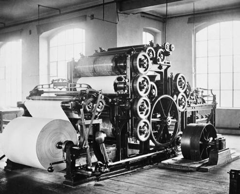 Rotary press designed by Wilhelm Koenig (1876).