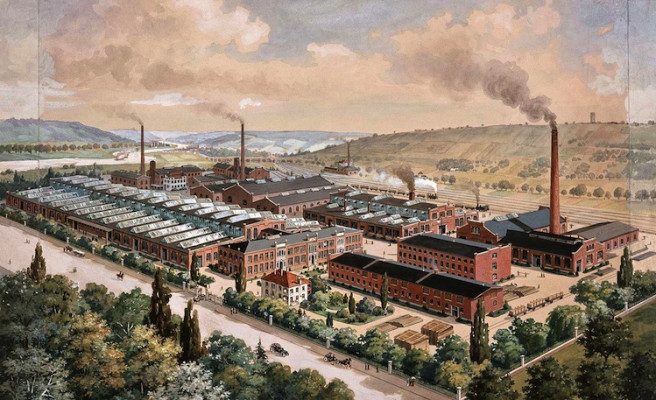 A new factory was built on the site of today's headquarters in 1901.