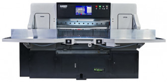 """A 45"""" SABER paper cutter is one of the new products Colter & Peterson will feature at PRINT 17."""