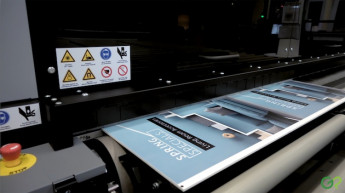 The Durst Rho P10 250 HS printer in action.