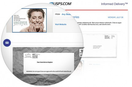 Informed Delivery: Notifications will provide a grayscale image of the address side of a letter size mail piece