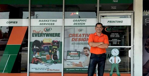 Manny Castro, Minuteman Press franchise owner, Downey, Calif.