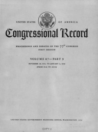 Congressional Record: President Franklin D. Roosevelt