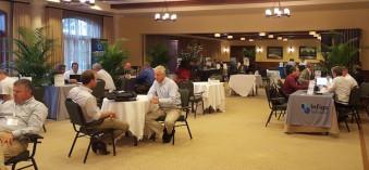 Digital Packaging Summit attendees and sponsors take part in one on one meetings.