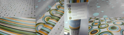 DESIGNING AND PRINTING WITH METALLIC INK: WRAPPING PAPER PRINT PROMOTION