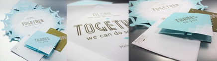 SNOWFLAKE HOLIDAY CARD MAILER: DESIGNING AND PRINTING WITH METALLIC INK