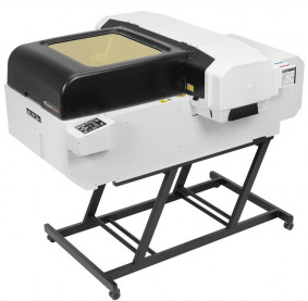 Mutoh America's ValueJet 626UF tabletop, LED-UV, flatbed printer.