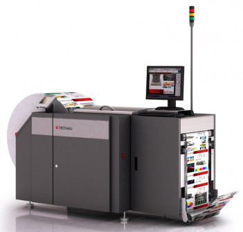 Tecnau is exhibiting its new WebVision ONspect, a new hardware platform for the WebVision quality monitoring system for high-speed continuous digital printing. The ONspect cabinet is placed immediately in front of Tecnau's Rewinder r9 and features a greatly reduced footprint. Because ONspect relies on Rewinder r9 to drive the web, no motors are required, resulting in a lower price. WebVision enables automated analysis of data integrity, image quality and workflow processes through an array of testing functions grouped in software packages.