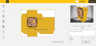 An example shown above from Racad Tech illustrates a custom template setup of a 3D box.