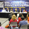 A scene from the 2016 GRAPH EXPO at the Printerverse booth.