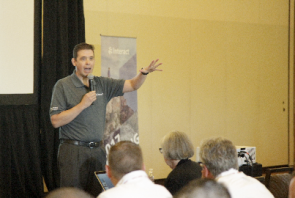 Mike Herold, Director, Global Marketing, Ricoh, at Ricoh's fourth annual INTERACT User Community Event.