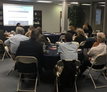 A glimpse from the USPS Capital Metro's Area Inspiring Mail (AIM) focus group meeting on Tuesday.