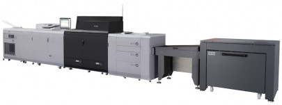 The imagePRESS C10000VP with BDT VX-370 with long sheet feeder from Canon U.S.A.
