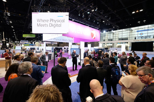 Xerox highlighted its digital innovations at its booth Monday.