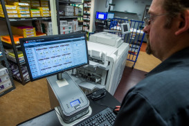 The Canon imagePRESS C800 color digital press operating at Sinking Spring, Pa.-based International Minute Press/Lasting Image includes an imagePRESS Server F200 to help maximize production efficiencies and turnaround times.