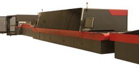 The EFI Nozomi C18000single-pass LED corrugated packaging press.