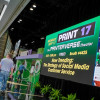 PRINT 17, as well as the print industry in general, is embracing the era of multi-channel communications, as evidenced by the Twitter board greeting attendees as they head onto the show floor.