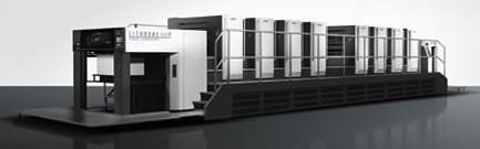 The Komori Lithrone G40 perfector press (GL840P).