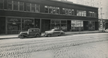 A view of the outside of the company in the early days when it was located on 710 South Clark St. in Chicago.