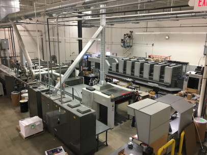 The new Komori Lithrone G40 press offers fast makeready that gives Dreamworks the ability to turn jobs quickly.