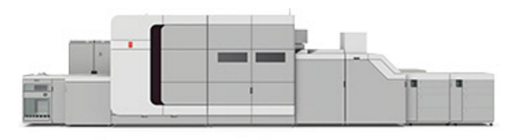The Océ VarioPrint i300 sheetfed inkjet color digital press.