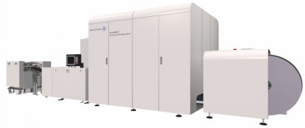 The AcceleJet printing and finishing system from Pitney Bowes.