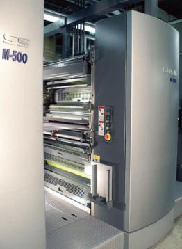 The Goss M-500 web press system.