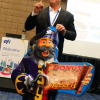 Frank Mallozzi, SVP Sales and Marketing, EFI, highlighted Buffalo,NY-based DKM Ad Art, which uses EFI's VUTEk GS Pro-TF series to create custom thermoform jobs in minutes.