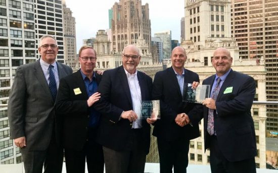 From left to right: Keith Kirk, COO, IPW; Timothy Cornelius, director of prepress, Agfa Graphics US; Steve Musselman, senior corporate account executive, Agfa Graphics, US; Jeff Loomis, VP corporate accounts, Agfa Graphics, US; and Dan Bendele, president and CEO, IPW.