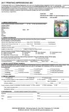 2017 Printing Impressions 400 Form