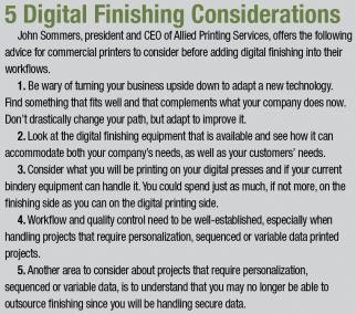 5 Digital Finishing Considerations