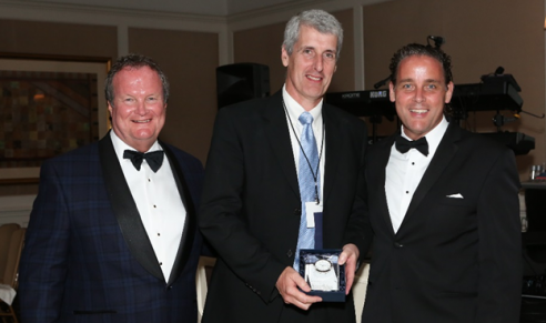 Pictured here, from the left, are Jim Fetherston, Worzalla Publishing and president of BMI; John Edwards, president and CEO of Edward Brothers Malloy; and Kent Larson, Bridgeport National Bindery and past president of BMI.