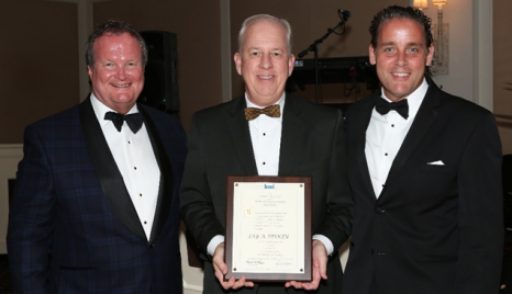 Pictured here, from the left, are Jim Fetherston, Worzalla Publishing and president of BMI; Jay Diskey, principal of Diskey Public Affairs; and Kent Larson, Bridgeport National Bindery and past president of BMI.