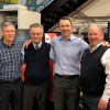 Pictured left to right, John Woolley, business leader, PC Industries; Herman Gnuechtel, business leader, web printing controls; Brent Becker, president and CEO, Baldwin; and Karl Fritchen, president, QuadTech.