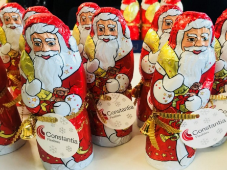 Chocolate Santa Clauses. Photo via Constantia Flexibles.